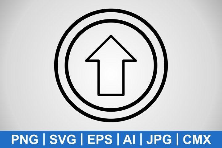Vector Go Straight Ahead Icon 977356 Icons Design Bundles Icon Icon Design Design Bundles