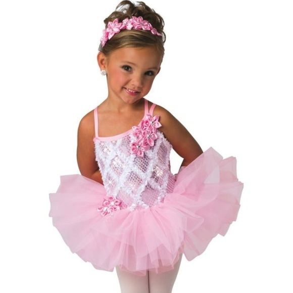 Beautiful pink sequin leotard with tutu Sz S Up for sale is a brand new candy pink leotard with attached tutu. It is stunning! It comes with a matching head piece that clips into hair. It is size small. Costume Gallery Other