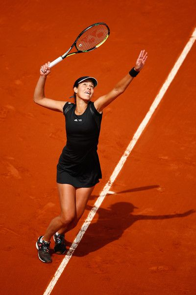 Ana Ivanovic Photos Photos - Ana Ivanovic of Serbia celebrates a point in her Women's Singles match against Ekaterina Makarova of Russia on day eight of the 2015 French Open at Roland Garros on May 31, 2015 in Paris, France. - 2015 French Open - Day Eight