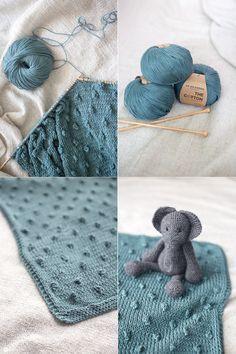 DIY Babydecke mit Knötchen stricken - Wie strickt man ein Knötchen - Anleitung auf Kreativfieber - Geschenk zur Geburt
