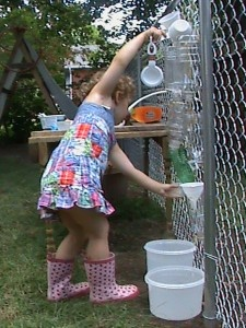 water play, play garden, outdoor spaces, kids garden