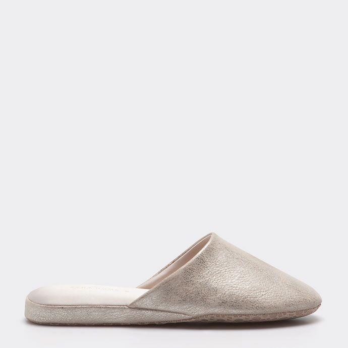 METALLIC SLIPPERS - Woman - Footwear - Homewear   Zara Home China ¥ 229.00