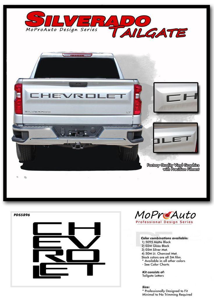 SILVERADO TAILGATE LETTERS : Chevy Silverado Tailgate ...