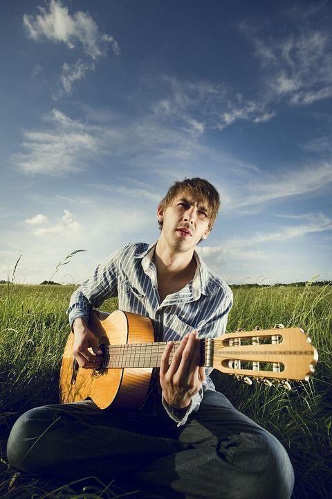 Guitarrista, Bard, Homem, Violão, Permanente, Músico