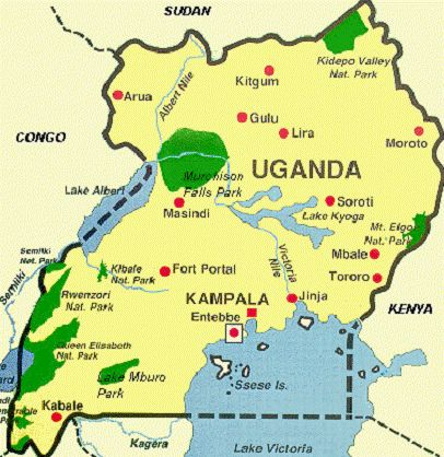 where is uganda africa