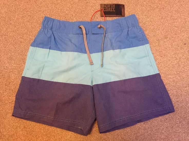 "M&S NORTH COAST Swim shorts, Swimwear M (84-89cm, 33-35"") BNWT Blue"