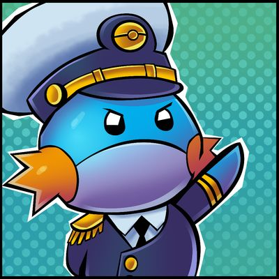 Admiral Mudkip at your service~ OH MY GAWSH THAT IS ADORBZ!