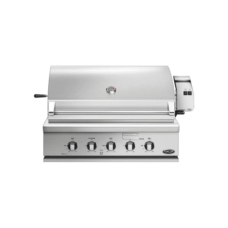 DCS Stainless Steel 36-Inch Built-In Gas Grill with Rotisserie and Smoker Tray (stainless steel), Silver