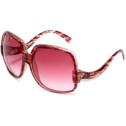 Converse Heritage Women`s The Showstopper Sunglasses,Red Amber Frame/Brown Gradient Lens,one size