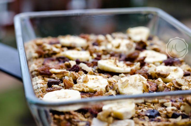 Zapečená ovesná kaše s banánem a chai kořením ~ Mangiare squisito ~ Foodblog