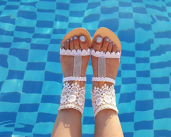 Bridal Sandals Greek Sandals Leather Sandals