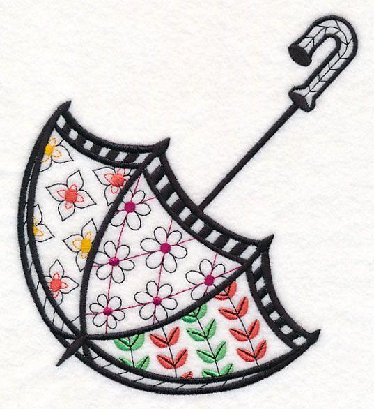 Free Embroidery Design: Umbrella