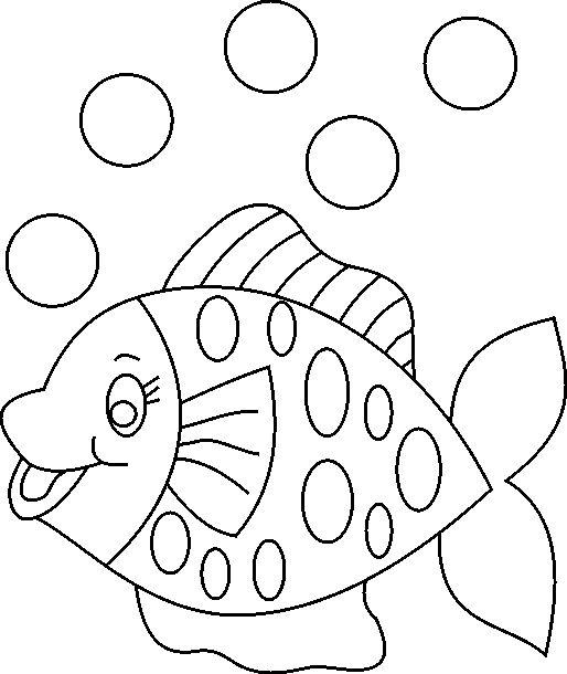 Fish Color - really cute! - para lençois ou roupinha pequena de bebé.                                                                                                                                                                                 Mais