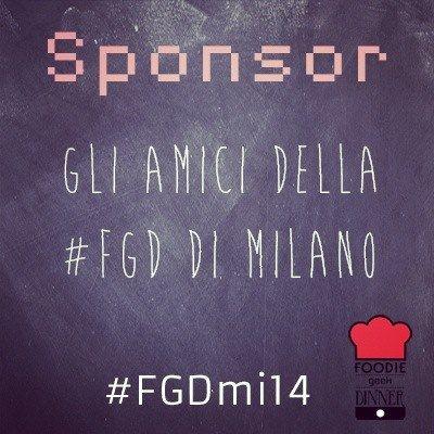 Non abbainìmo degli sponsor per la cena di Milano che si terrà alla Food Genius Academy il 26 giugno ma abbiamo degli amici!