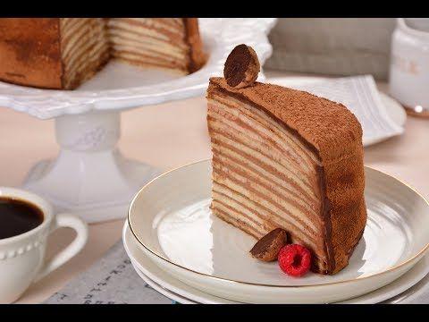 Pastel de Chocolate con Crepas SIN HORNO   Pastel de Chocolate Fácil y Rápido - YouTube