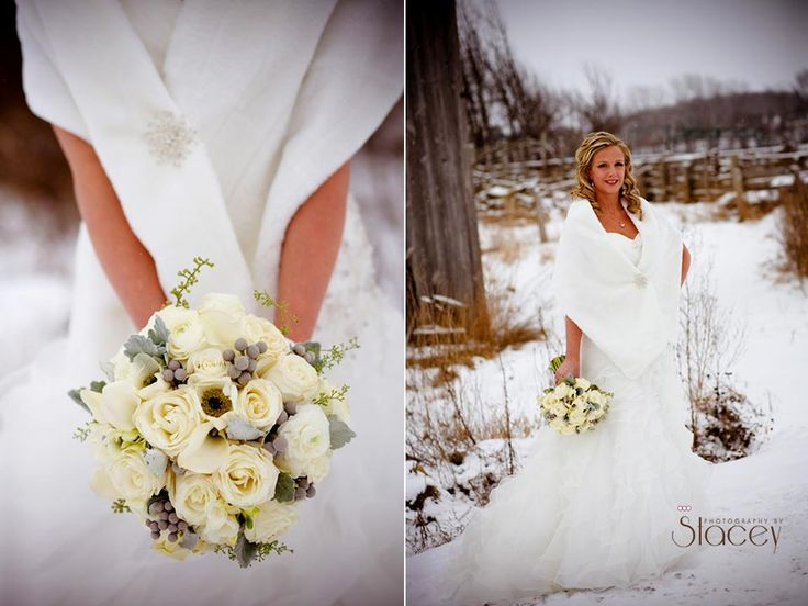 Winter Wedding in Bruce County, Canada Dress from Bridal Temptations in Hanover.