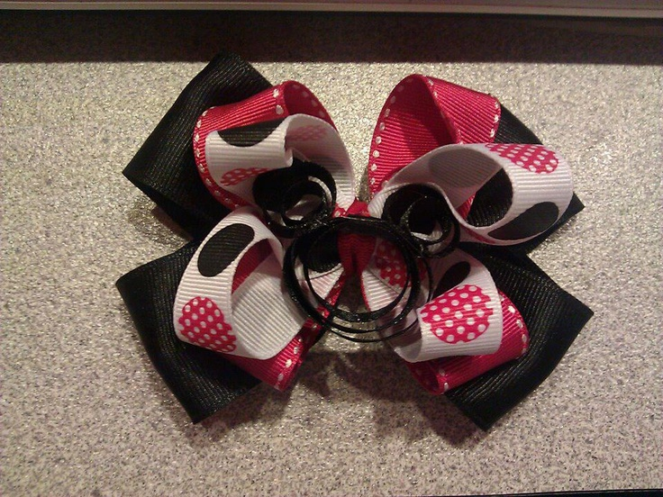 Mickey Bow $8  https://www.facebook.com/pages/Tutu-Cute/171729329580274