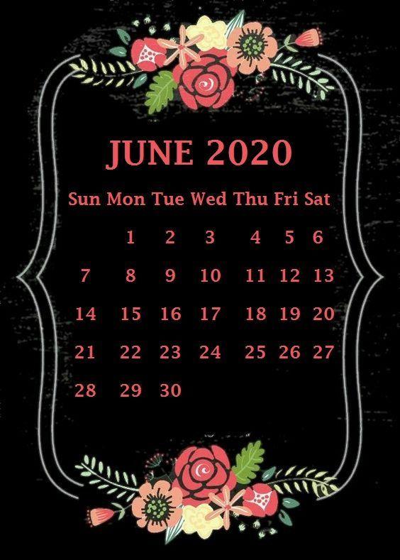 June 2020 Calendar Wallpaper | Calendar wallpaper, Desktop ...