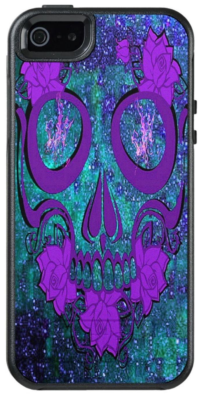 """A """"Calavera"""" is a decorated skull. Very popular in Mexican festivities. Sometimes made of sugar so you can actually eat them! I'm using the Calavera here as a means of invoking the spirits of the dead to help protect your valuable phone."""