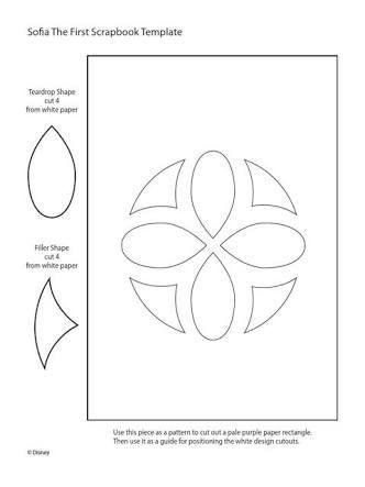 Resultado de imagem para molde da flor do vestido da princesa sofia