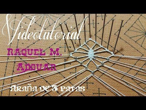 ARAÑA DE 3 PATAS Encaje de Bolillos (nivel aprendiz) - YouTube