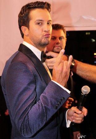 Luke Bryan @ CMA Awards Red Carpet, Nashville, USA - 06 Nov 13