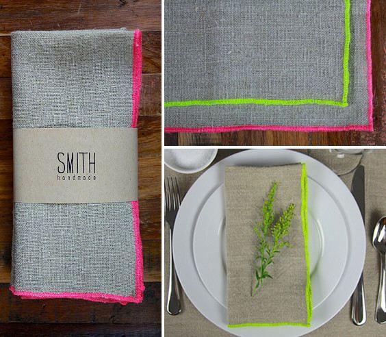 Beautiful linens from Smith Handmade