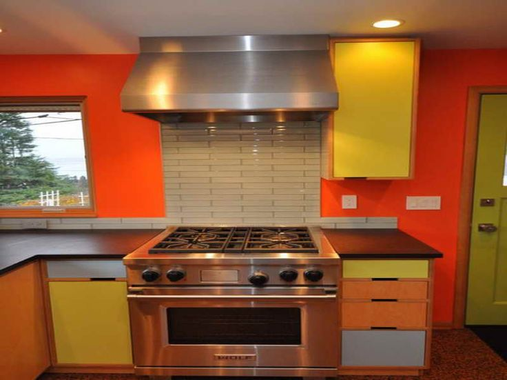 Color Ideas For Kitchen Walls With Bright Orange