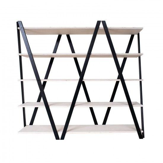 Zig-Zag Shelf - Black - by Radis #MONOQI