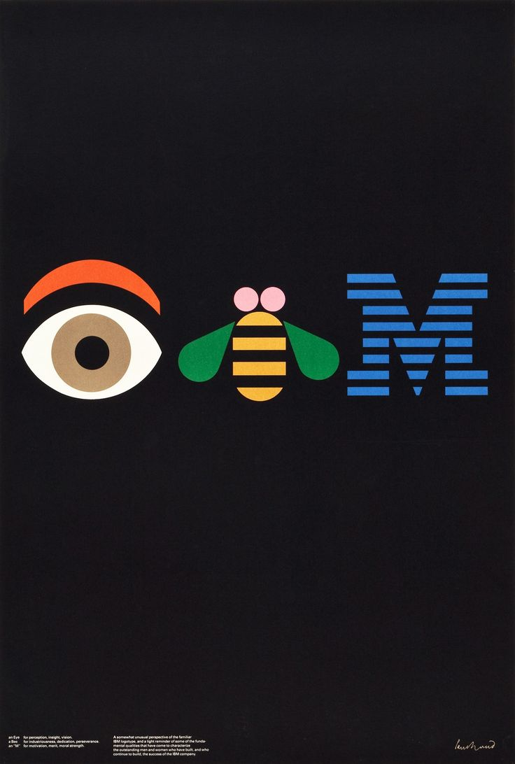 1981 IBM advertising poster by corporate logo maestro, Paul Rand. An #LogoCore
