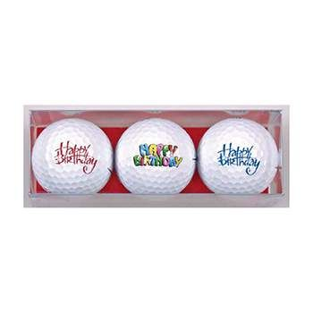 Golf Gifts Happy Birthday Premium Golf Ball Gift Pack (3 Balls) at golfessentials.in