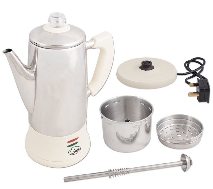Quest Stainless Steel Coffee Percolator 1 8 Litre Cream Co Uk Kitchen Home Visa Olof Pinterest And