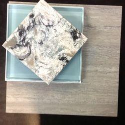 cambria praa sands quartz | Quartz Countertops - This is a sample of Cambria Praa Sands with a ...