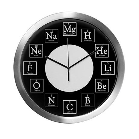 24 best periodic elements fun stuff yesnack images on chemistry geek modern wall clock urtaz Images