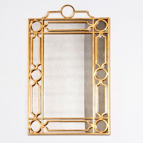 Worlds Away Treillage Mirror - Gold Leaf