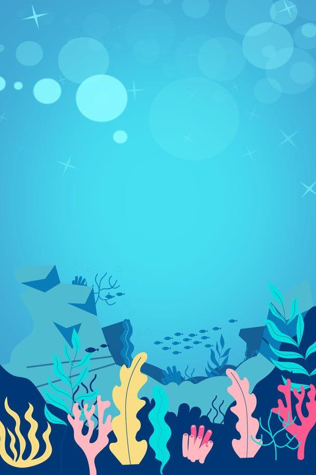 Mundo Submarino Dibujos Animados Coral Fondo Underwater Cartoon Underwater Background Clownfish And Sea Anemone