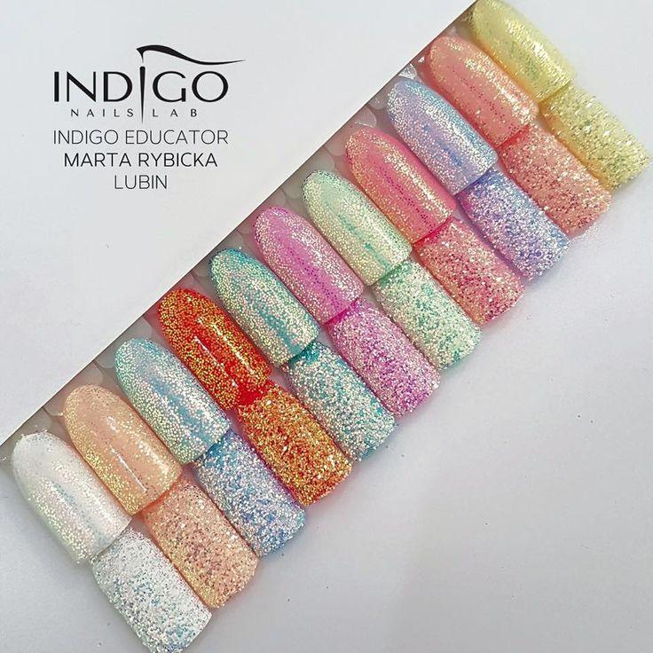 Magic nails by Marta Rybicka Indigo Educator Lubin #nails #nail #indigo #indigonails #magicnails #nailsart #cindarella #pixel #effectnails #summernails #springnails