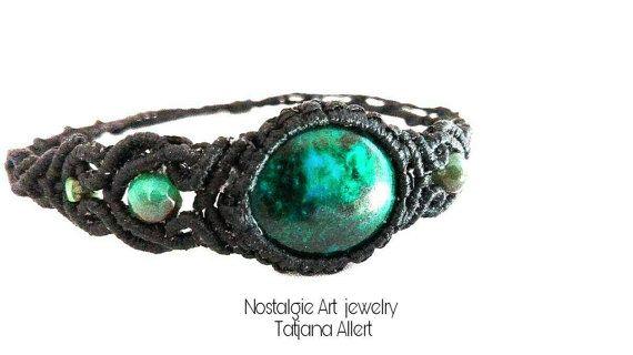 Hey, I found this really awesome Etsy listing at https://www.etsy.com/listing/490135006/macrame-bracelet-chrysocolla-stone