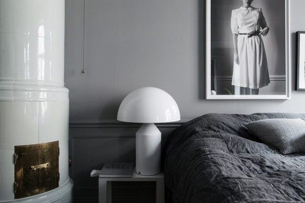 Bedroom grey Lotta Agaton from Trendenser blog