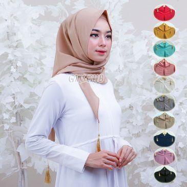 jilbab instan Triangle / Segiempat Instant Diamond crepe, jilbab 2017, jilbab cantik yang nyaman dan mudah dikenakan
