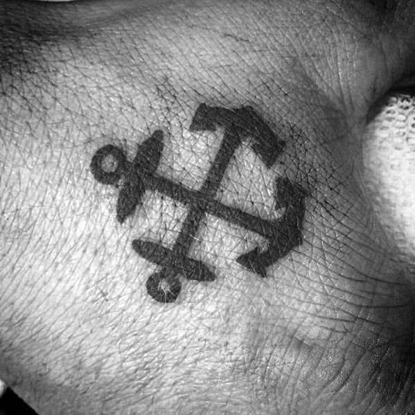 40 Small Anchor Tattoo Designs For Men – Manly Miniature Ink Ideas