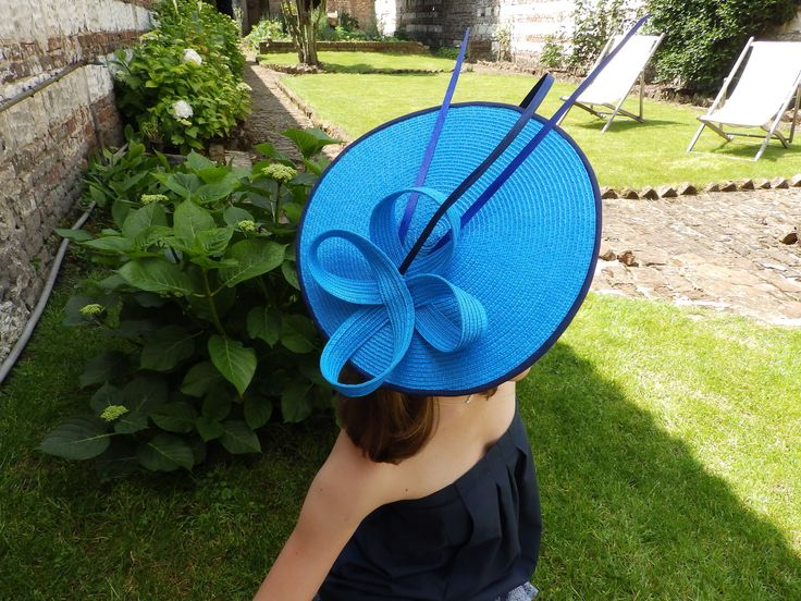 """Chapeau bleu de mariage de """"les chapeaux de Capucine & Marie-Marie"""" : Chapeau, bonnet par capucine-marie-marie"""