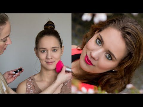 Springtime Pop Up Eyes & Bright Lips with my March Guest - YouTube