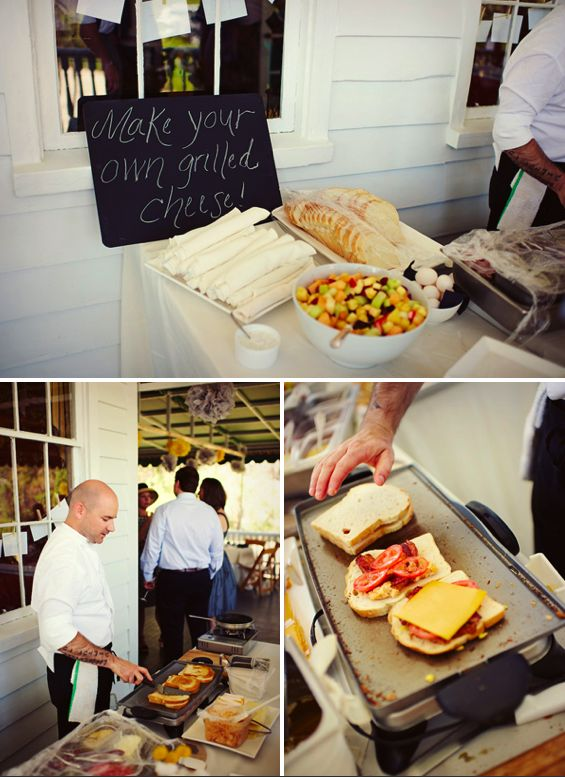 Wedding Grilled Cheese Bar!  Except you would have PUDGY PIES! :)