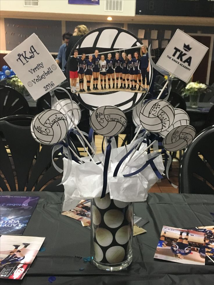 The 25 best sports banquet centerpieces ideas on for Athletic banquet decoration ideas