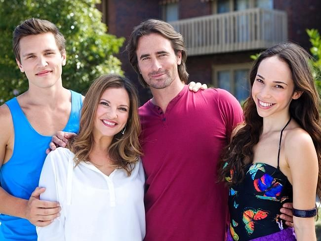 Neighbours tv show The Willis Family Josh, Terese, Brad and Imogen