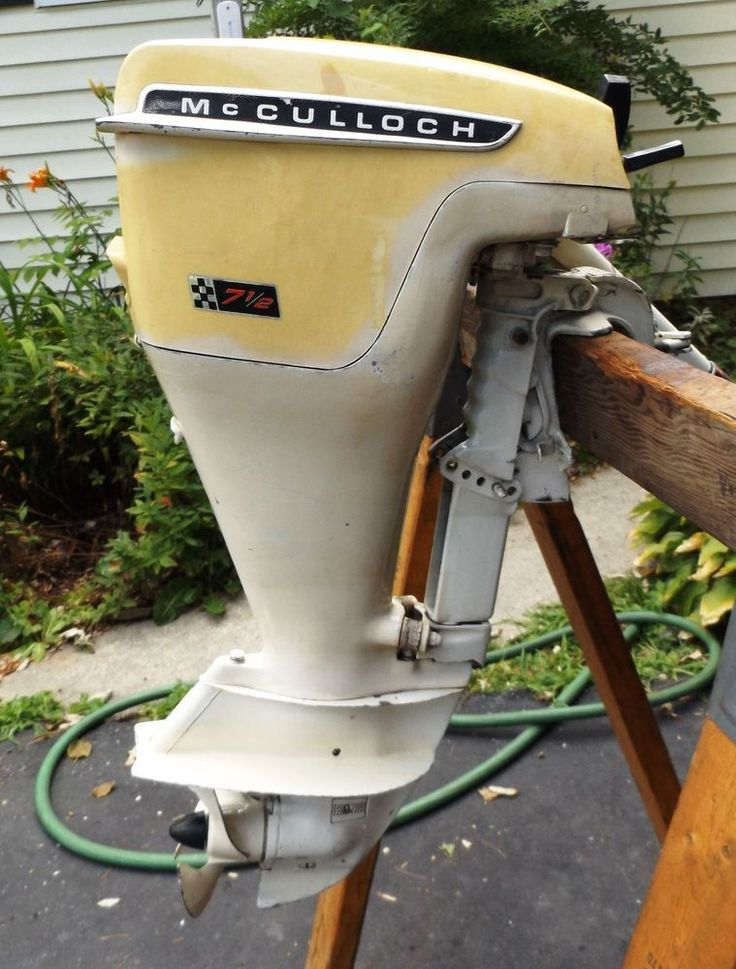 Rare vtg 1966 mcculloch 7 5 outboard motor runs owners for Waterwitch outboard motor parts