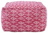 John Robshaw Textiles Pomegranate Square Bean Bags - eclectic - ottomans and cubes - John Robshaw Textiles