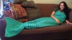 Adult Mermaid Crochet Tail Blanket Free Pattern