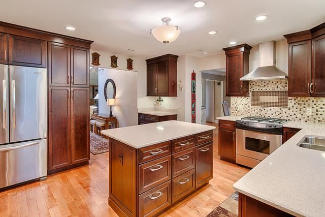 Stunning New Kitchen Featuring Kraft Maid Cherry Cabinets